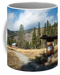 Mazama Barn Trail And Bench Coffee Mug