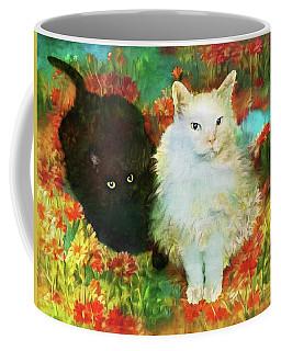 Mccartney And Silky In The Garden Coffee Mug