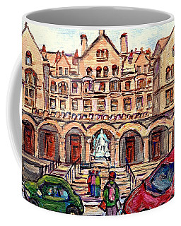 Mcgill University Strathcona Music Building Painting Queen Victoria Statue Sherbrooke C Spandau Art Coffee Mug