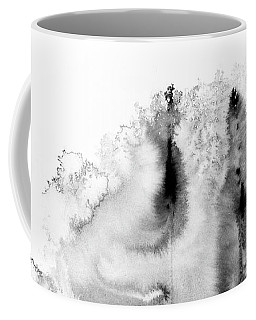 Meeting Of Lovers - Black And White Abstract Ink Painting Coffee Mug