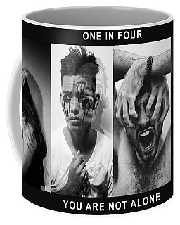 Coffee Mug featuring the digital art Mental Health Awareness - You Are Not Alone by ISAW Company