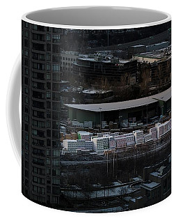 Coffee Mug featuring the photograph Merchandise Beside A Railroad Track  by Juan Contreras