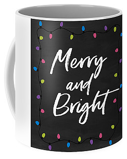 Coffee Mug featuring the digital art Merry And Bright 2- Art By Linda Woods by Linda Woods