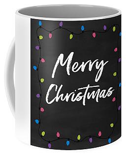 Coffee Mug featuring the digital art Merry Christmas Lights 2- Art By Linda Woods by Linda Woods