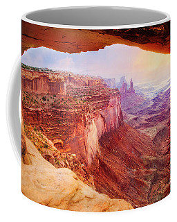 Coffee Mug featuring the photograph Mesa Arch View by Scott Kemper