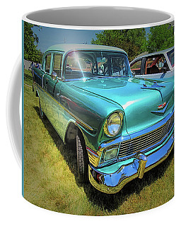 Metallic Green 1956 Chevy Sedan Coffee Mug