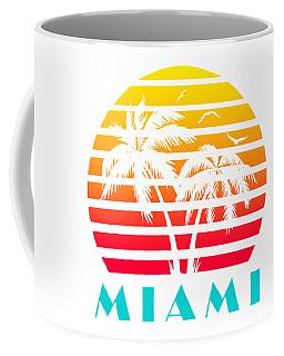 Miami 80s Tropical Sunset Coffee Mug