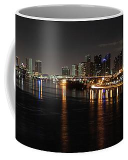 Miami Lights At Night Coffee Mug