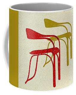 Mid Century Chairs Print II Coffee Mug