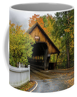 Coffee Mug featuring the photograph Middle Covered Bridge - Woodstock Vermont by Expressive Landscapes Fine Art Photography by Thom