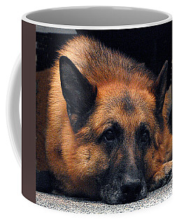 Coffee Mug featuring the digital art Military Dog Whiskey by Robert G Kernodle