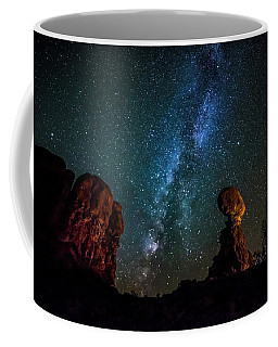 Coffee Mug featuring the photograph Milky Way Over Balanced Rock by David Morefield