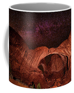 Coffee Mug featuring the photograph Milky Way Over Double Arch by Andy Crawford