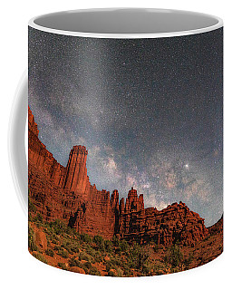 Milky Way Over Fisher Towers Coffee Mug