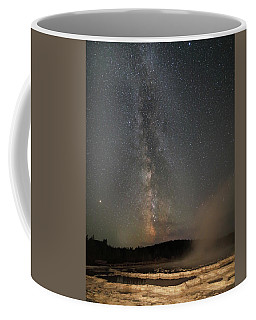 Milky Way Over Great Fountain Geyser Coffee Mug