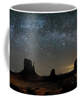 Milky Way Over Monument Valley Coffee Mug