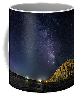Coffee Mug featuring the photograph Milky Way Over Morro Rock by Mike Long