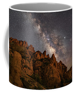 Milky Way Over Rocky Terrain Coffee Mug
