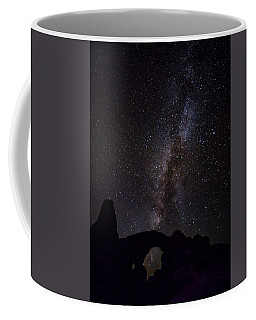 Coffee Mug featuring the photograph Milky Way Over The Windows by David Morefield