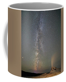 Milky Way Over White Dome Geyser Coffee Mug