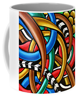 Colorful Abstract Art Painting Chromatic Intuitive Energy Art - Ai P. Nilson Coffee Mug