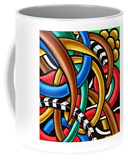 Colorful Abstract Art Painting Chromatic Intuitive Energy Art - Ai P. Nilson Coffee Mug