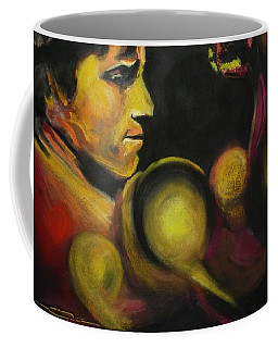Coffee Mug featuring the pastel Mister Of The Universe by Eric Dee