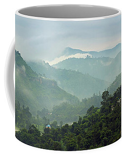 Coffee Mug featuring the photograph Misty Mountains by Whitney Goodey