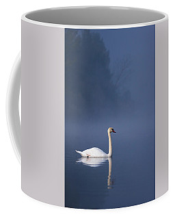Misty River Swan 2 Coffee Mug