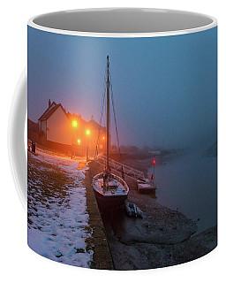 Coffee Mug featuring the photograph Misty Rowhedge Winter Dusk by Gary Eason