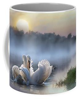 Misty Swan Lake Coffee Mug
