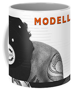 Coffee Mug featuring the digital art Modelling Can You Cut It? by ISAW Company