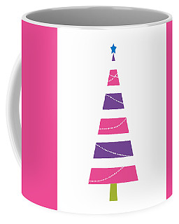 Coffee Mug featuring the digital art Modern Glam Christmas Tree 1- Art By Linda Woods by Linda Woods