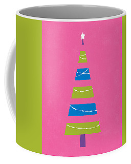 Coffee Mug featuring the digital art Modern Glam Christmas Tree 2- Art By Linda Woods by Linda Woods