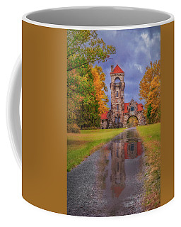Coffee Mug featuring the photograph Mohonk Preserve Gatehouse  Ny Fall  by Susan Candelario