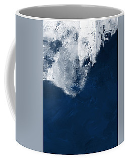 Coffee Mug featuring the painting Moment In Blue- Art By Linda Woods by Linda Woods