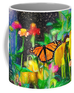 Monarch Butterfly Colored Pencil Coffee Mug