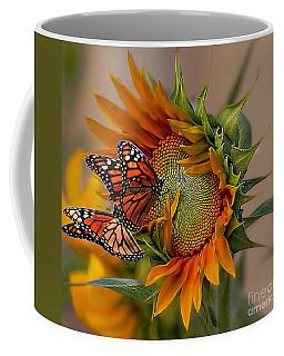 Monarchs And Sunflower Coffee Mug