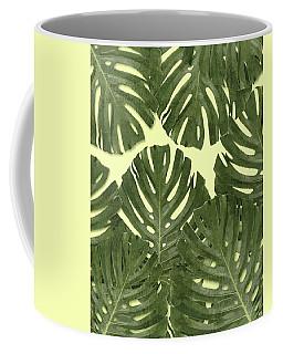 Monstera Leaf Pattern - Tropical Leaf Pattern - Green - Tropical, Botanical - Modern, Minimal Decor Coffee Mug
