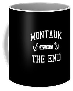 Coffee Mug featuring the digital art Montauk Established 1852 by Flippin Sweet Gear
