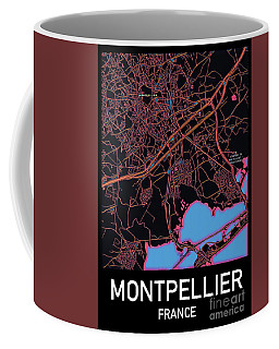 Montpellier City Map Coffee Mug