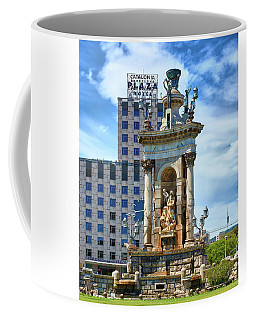 Coffee Mug featuring the photograph Monumental Fountain In Barcelona by Eduardo Jose Accorinti