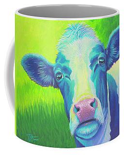 Moo Now Blue Cow Coffee Mug