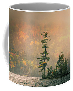 Coffee Mug featuring the photograph Moody Autumn Morning On Moosehead Lake by Dan Sproul