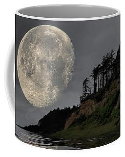 Moon And Beach Coffee Mug