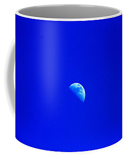 Coffee Mug featuring the photograph Moon In A Daytime Sky by W And F Kreations