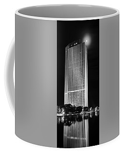 Coffee Mug featuring the photograph Moon Over Corning by Brad Wenskoski