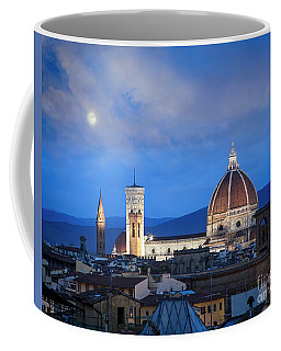 Coffee Mug featuring the photograph Moon Over Florence by Scott Kemper
