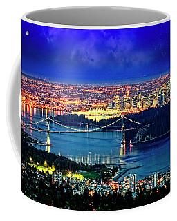 Moon Over Vancouver Coffee Mug