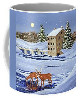 Moonlight Millpond Whitetails Coffee Mug